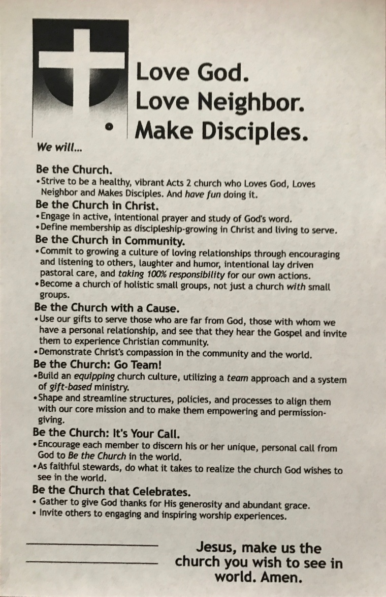 Be the Church covenant